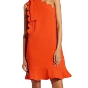 Victoria Beckham Scallop 1 shoulder dress